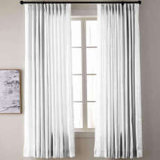Textured Faux Dupioni Silk Curtain Drapery YUN