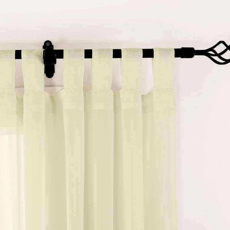 Tab Top Indoor Outdoor Solid Sheer Curtain Wide Opulent Voile Drapes (1 Panel) Scandina Collection