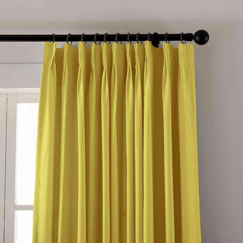 Pinch Pleated Outdoor Curtain For Track or Traverse Rod with Ring, at Front Porch, Pergola, Cabana, Covered Patio, Gazebo, Dock, and Beach Home.