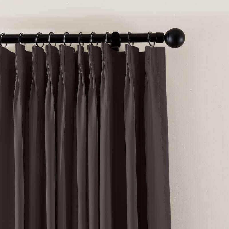 CUSTOM Flame Retardant Curtain Blackout Thermal Insulated Drapery Fireproof Curtain Pinch Pleated Grommet 6 Colors