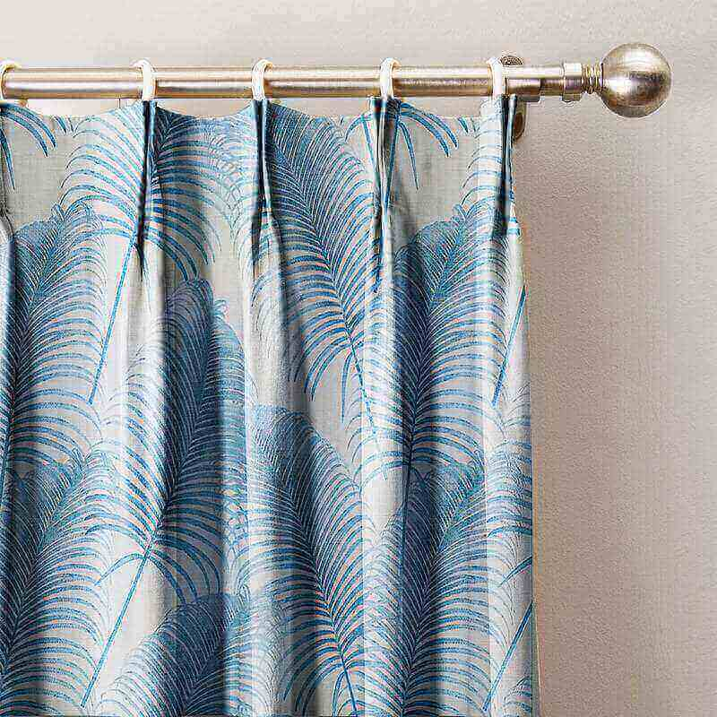 Leaves Print Curtain Pinch Pleated Blackout Lining Darpes Panel For Bedroom Living Room Hotel Restaurant (1 Panel) Lourve Collection