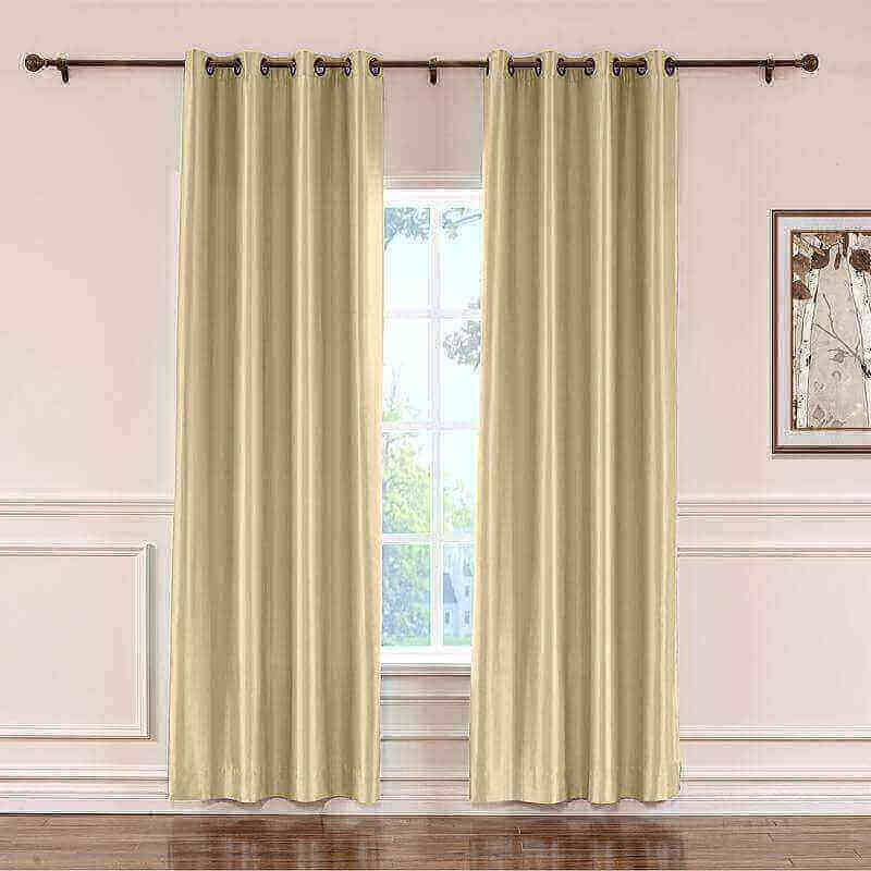 CUSTOM Lao Hang Zhou Khaki Polyester Cotton Thermal Insulated Curtain