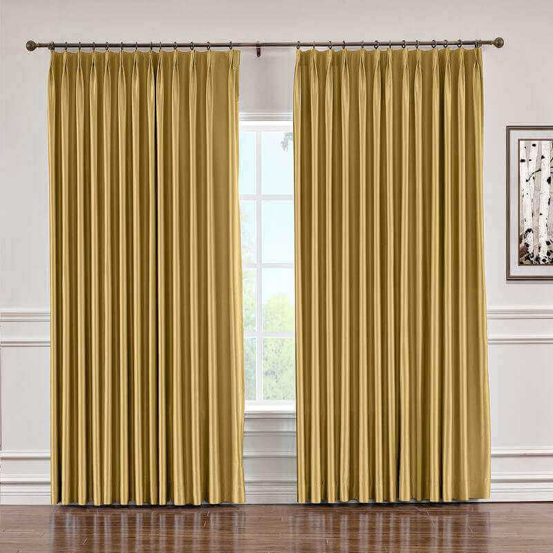 CUSTOM Lao Hang Zhou Gold Polyester Cotton Thermal Insulated Curtain