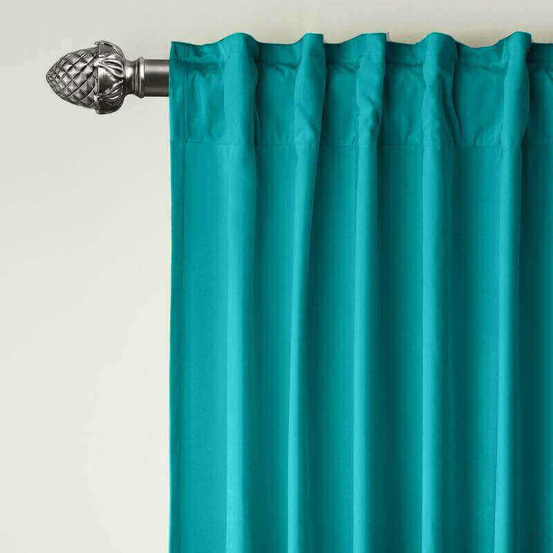 CUSTOM Birkin Turquiose Velvet Curtain Drapery With Lining For Traverse Rod Pole or Track
