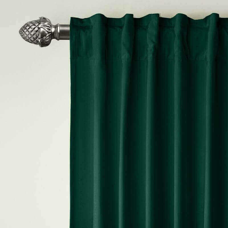 CUSTOM Birkin Moss Velvet Curtain Drapery With Lining For Traverse Rod Pole or Track