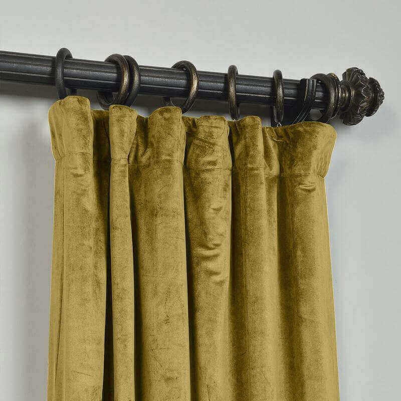 CUSTOM Birkin Fawn Velvet Curtain Drapery With Lining For Traverse Rod Pole or Track