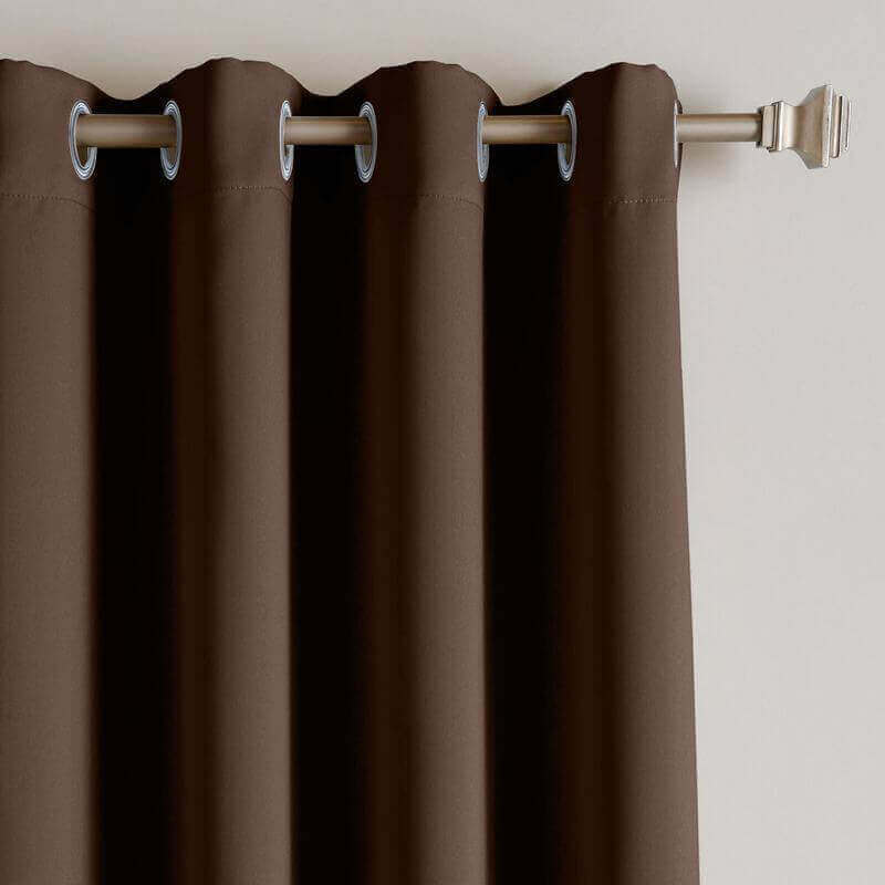 CUSTOM Edoardo Chocolate Outdoor Curtain