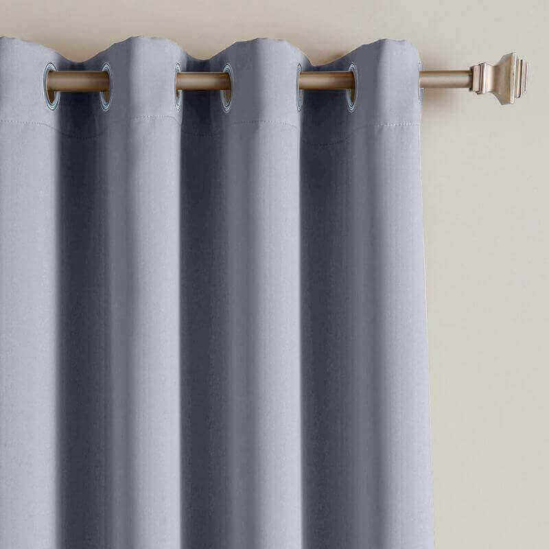 CUSTOM Edoardo White Grey Outdoor Curtain