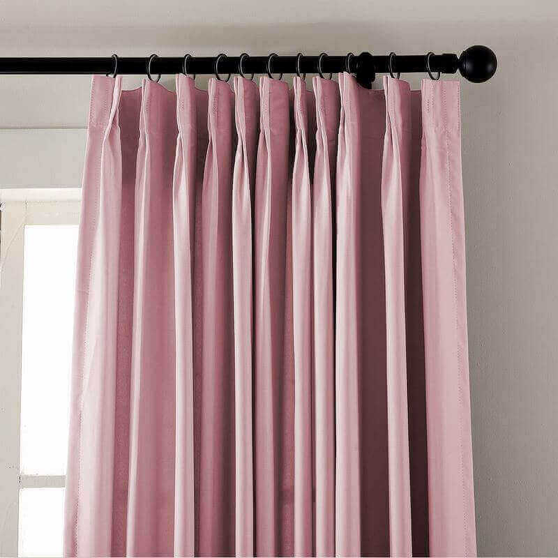 CUSTOM EDOARDO Pink Indoor Blackout Curtain