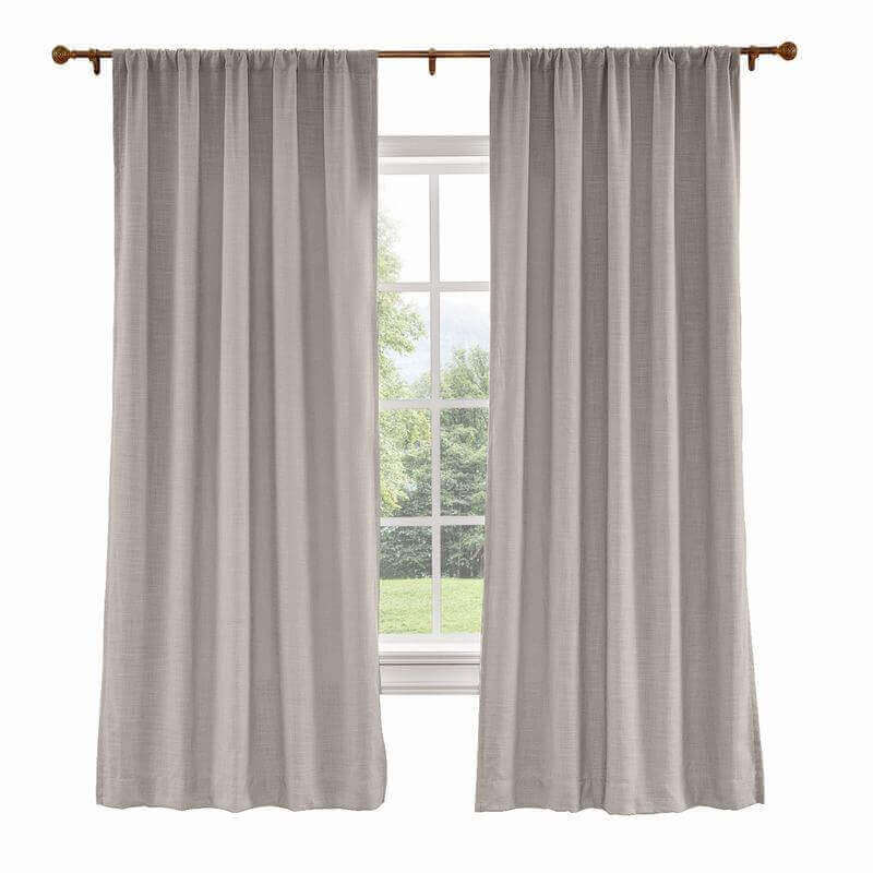 CUSTOM Liz Light Lavender Polyester Linen Curtain Drapery with Lined