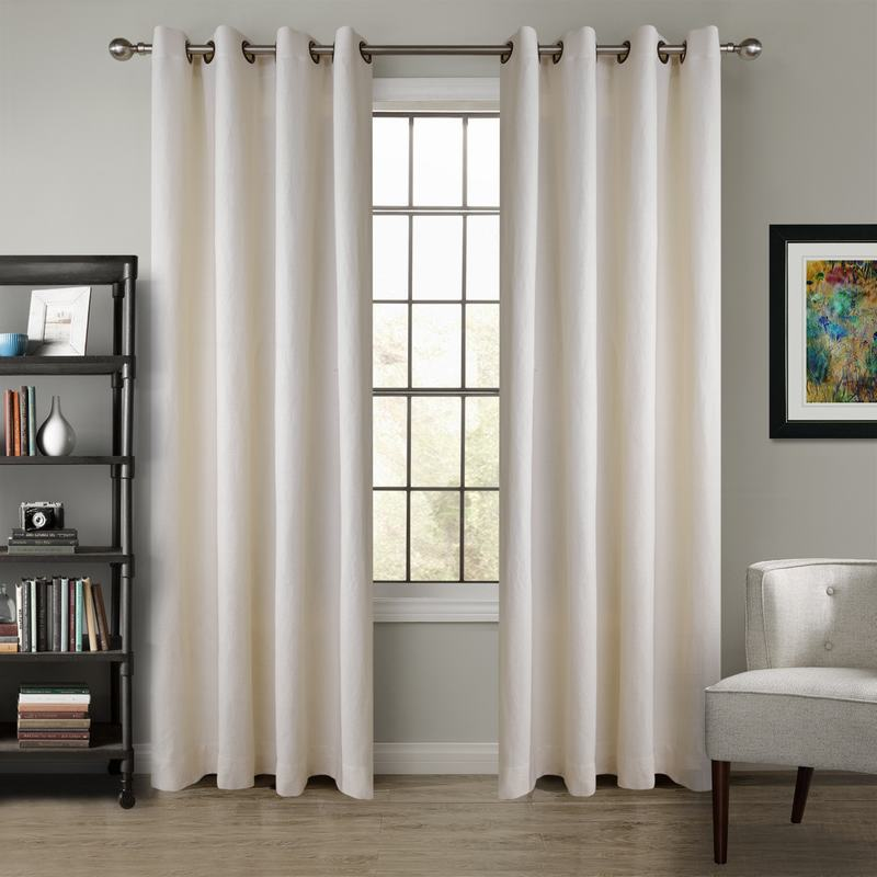 Heavy Weight 100% Linen Curtain Drapery TRENCH