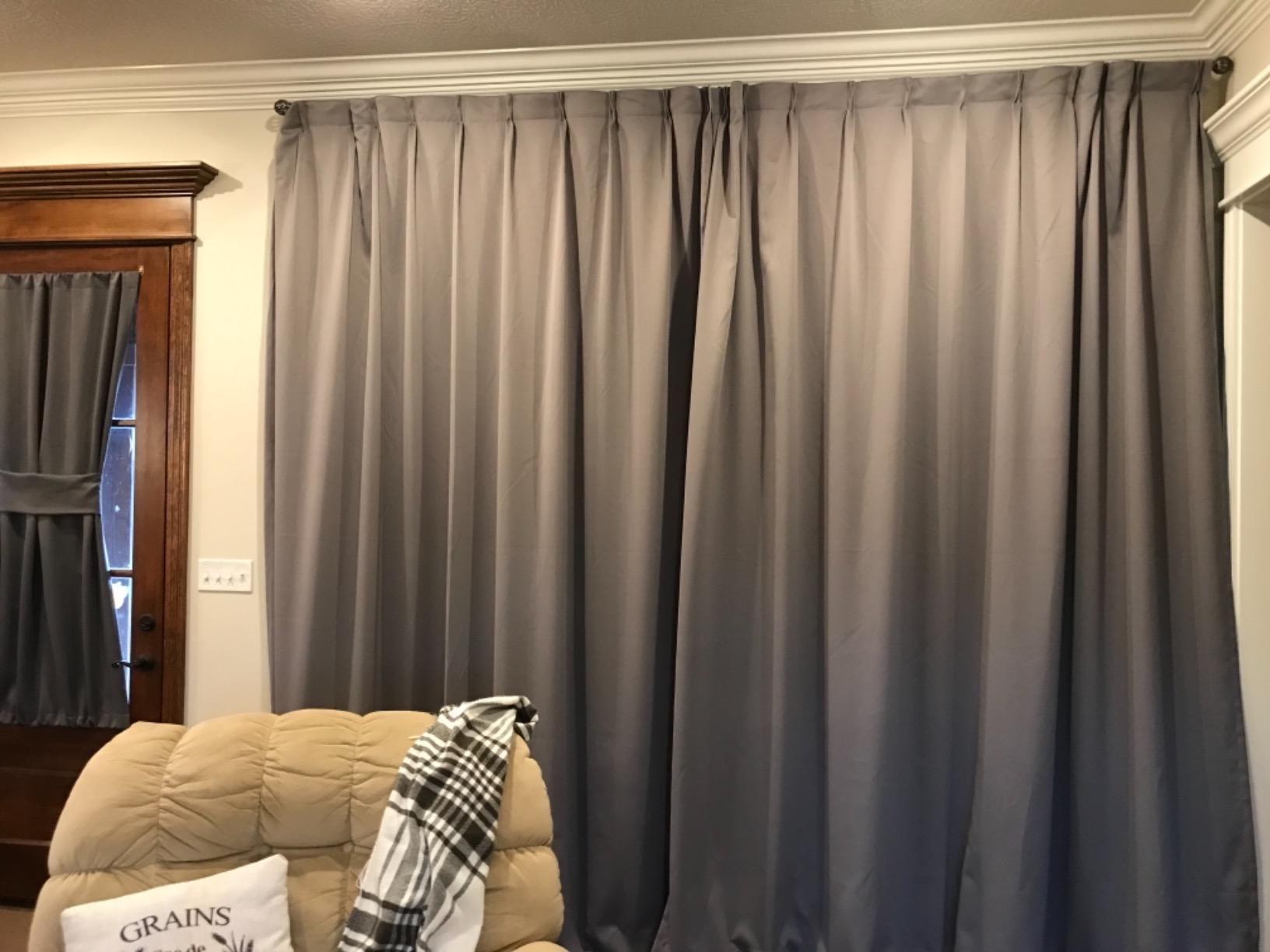 Chadmade Pinch Pleated Curtain 100w X 84l Inch Solid