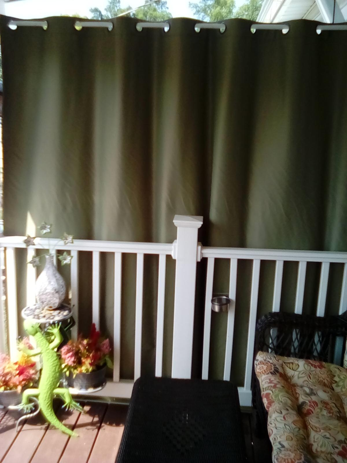 Windproof Outdoor Curtain With Top Bottom Grommet Burgundy