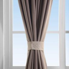 Set of 2 Curtain TieBack Holdback Each with Snap Polyester Blackout