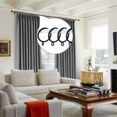 Metal Curtain Rings with Eyelets