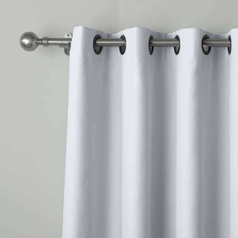 CUSTOM EDOARDO White Indoor Blackout Curtain Drapes