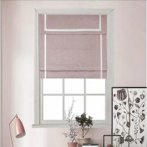 Stripe Print Polyester Roman Shade In Pink