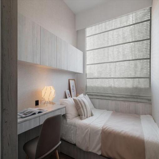 Polyester Linen Roman Shade In Grey