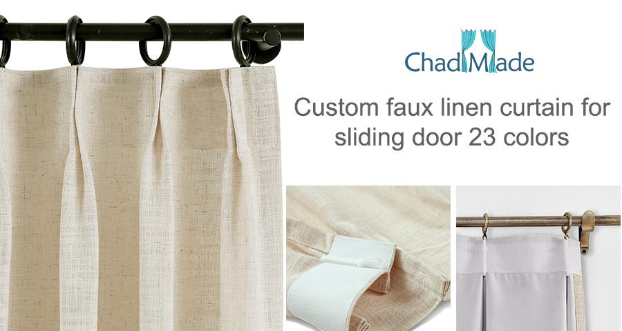 100 W X 84 L Heavyweight Luxury Faux Linen Curtain Pinch