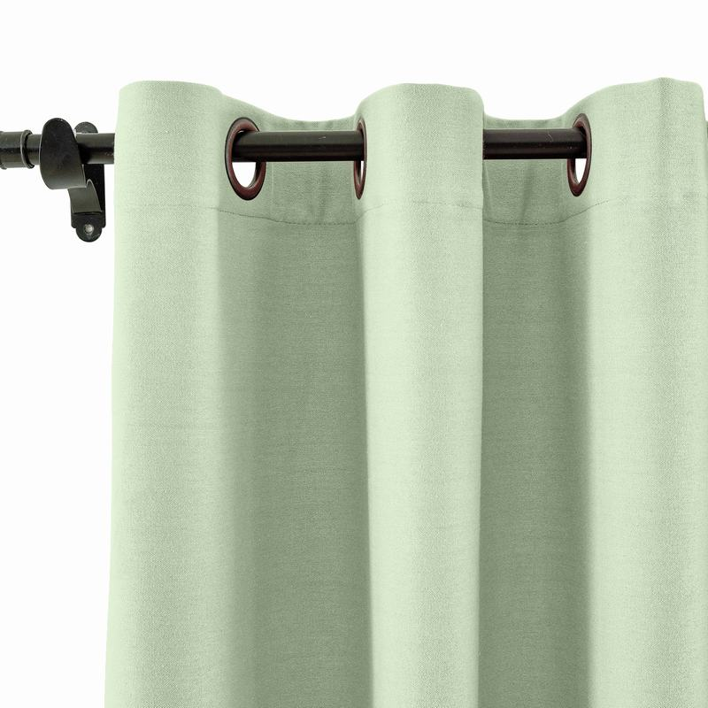 Grommet Cotton blend Room Darkening Blackout Curtains with Liner