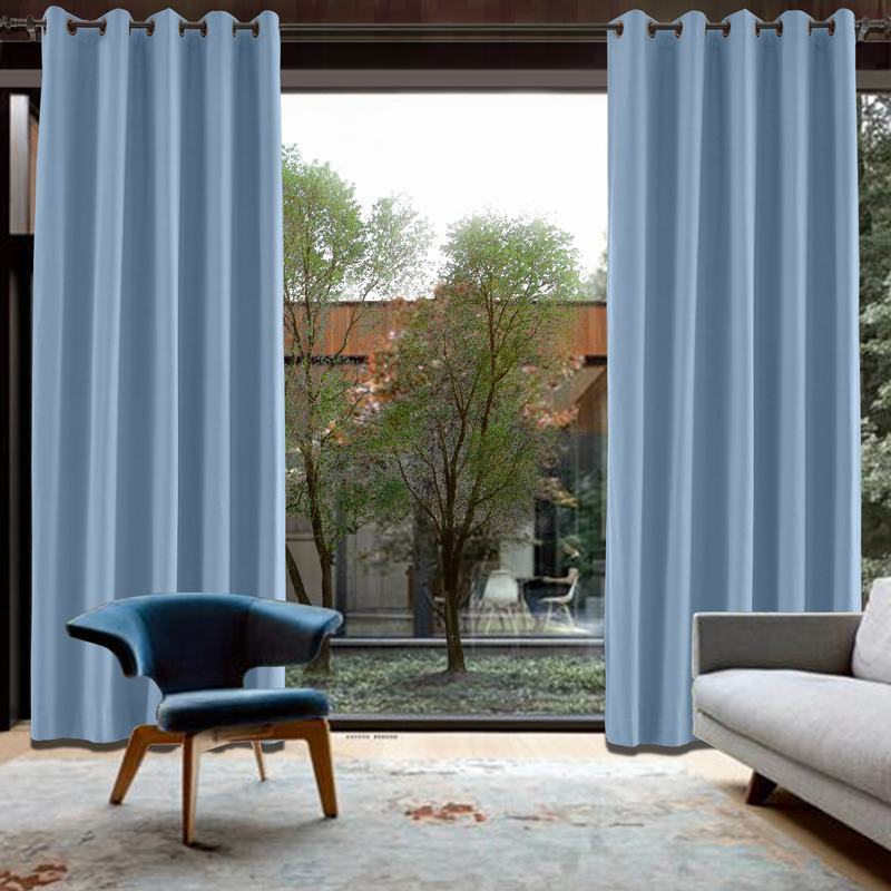 CUSTOM Capri Cashmere Blue Blackout Curtains with Liner