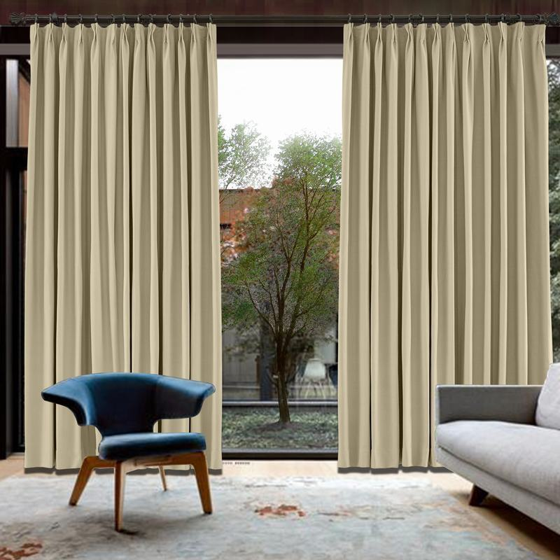 CUSTOM Capri Flax Blackout Curtains with Liner
