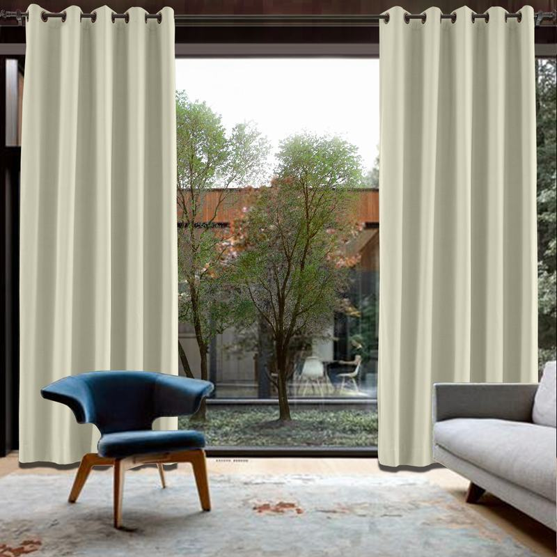 CUSTOM Capri Beige Blackout Curtains with Liner