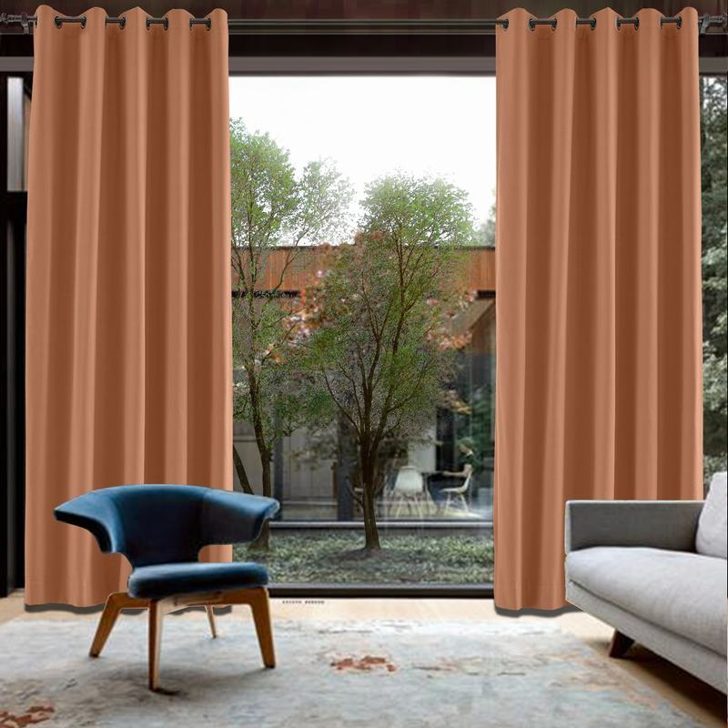 CUSTOM Capri Rust Blackout Curtains with Liner