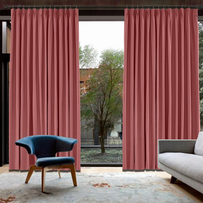 CUSTOM Capri Red Blackout Curtains with Liner