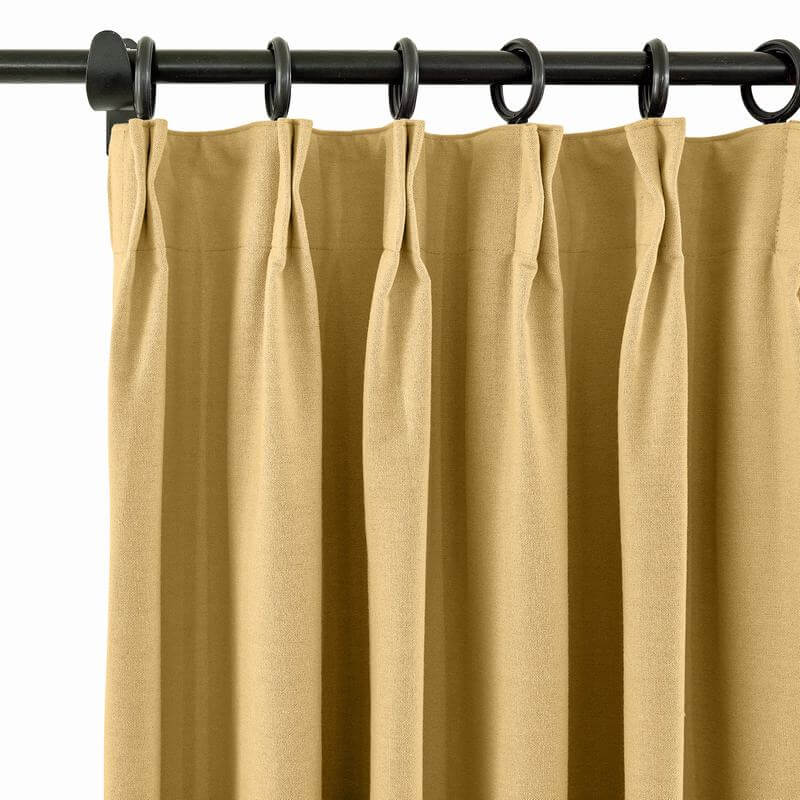 Pinch Pleat Room Darkening Blackout Curtains with Liner