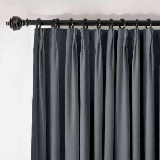 Pinch Pleated Velvet Blackout Lined Home Movie Theater Curtain Drapes Panel