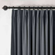 Pinch Pleated Velvet Blackout Lined Home Movie Theater Curtain Drape Panel BIRKIN