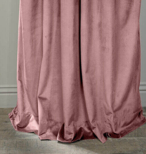 Velvet Curtain Drape Panel 3 Inch Rod Pocket with Blackout Lining
