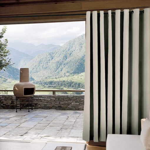 ChadMade Windproof Outdoor Curtain with Top Bottom Aluminum Grommet Burgundy 100 W x 102 L Waterproof Patio Cabana Porch Gazebo Panel Drapery 1 Panel