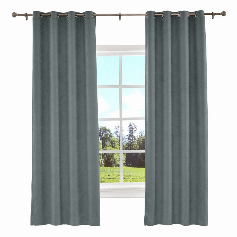 KANTE Polyester Cotton Drapery With Lining Curtains