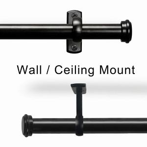 Ceiling or Wall Mounted Curtain Rod, Hanging Rod Set for Window Room Divider  44-156 inches Jaylon