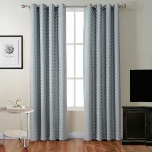 Jacquard Diamond Curtain Drapery ZAC
