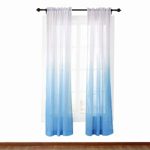 HANNA Gradient Ombre Sheer Curtain Tulle Gradual Drapery