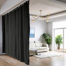 Ceiling Track Room Divider Flame Retardant Fireproof Curtain Kit for Any Space