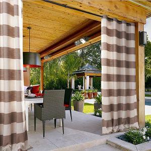 Plaid Gingham Check Outdoor Curtain JONES