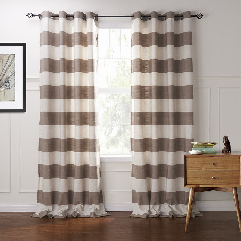 Plaid Gingham Check Outdoor Curtain Jones