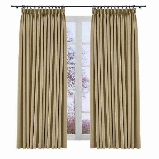 Room Darkening Polyester Curtain Drapery Panel YEFFA