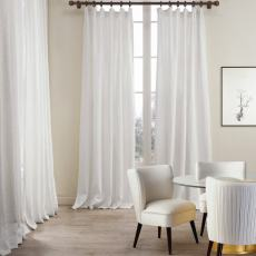 Cotton Linen Curtain Drapery Lined Curtain MASHA