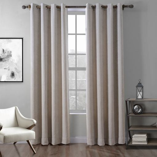 Polyester Chenille Jacquard Curtain Wave Soft Handfeel Drape ZINGE