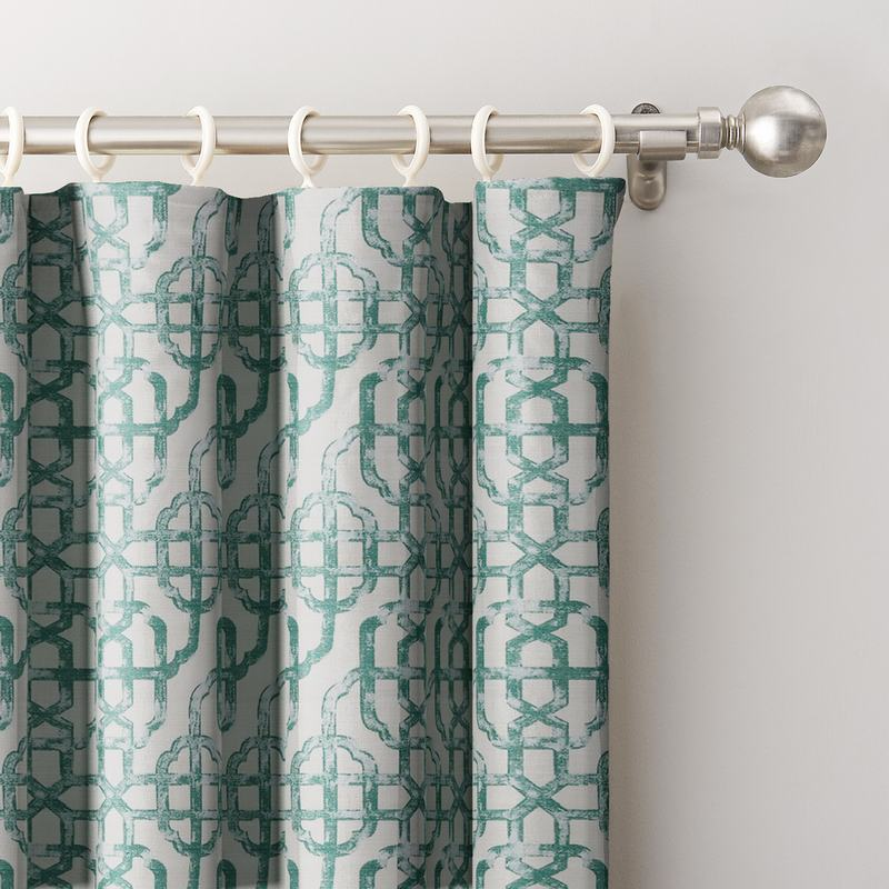 Trellis Window Curtain Lattice Drapery THEA