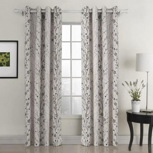 Plum Blossom Polyester Curtain Drape ASTRID