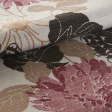 EVELYN Flower Print Fabric Swatch Polyester Cotton, Refundable For Order Amount Over $399