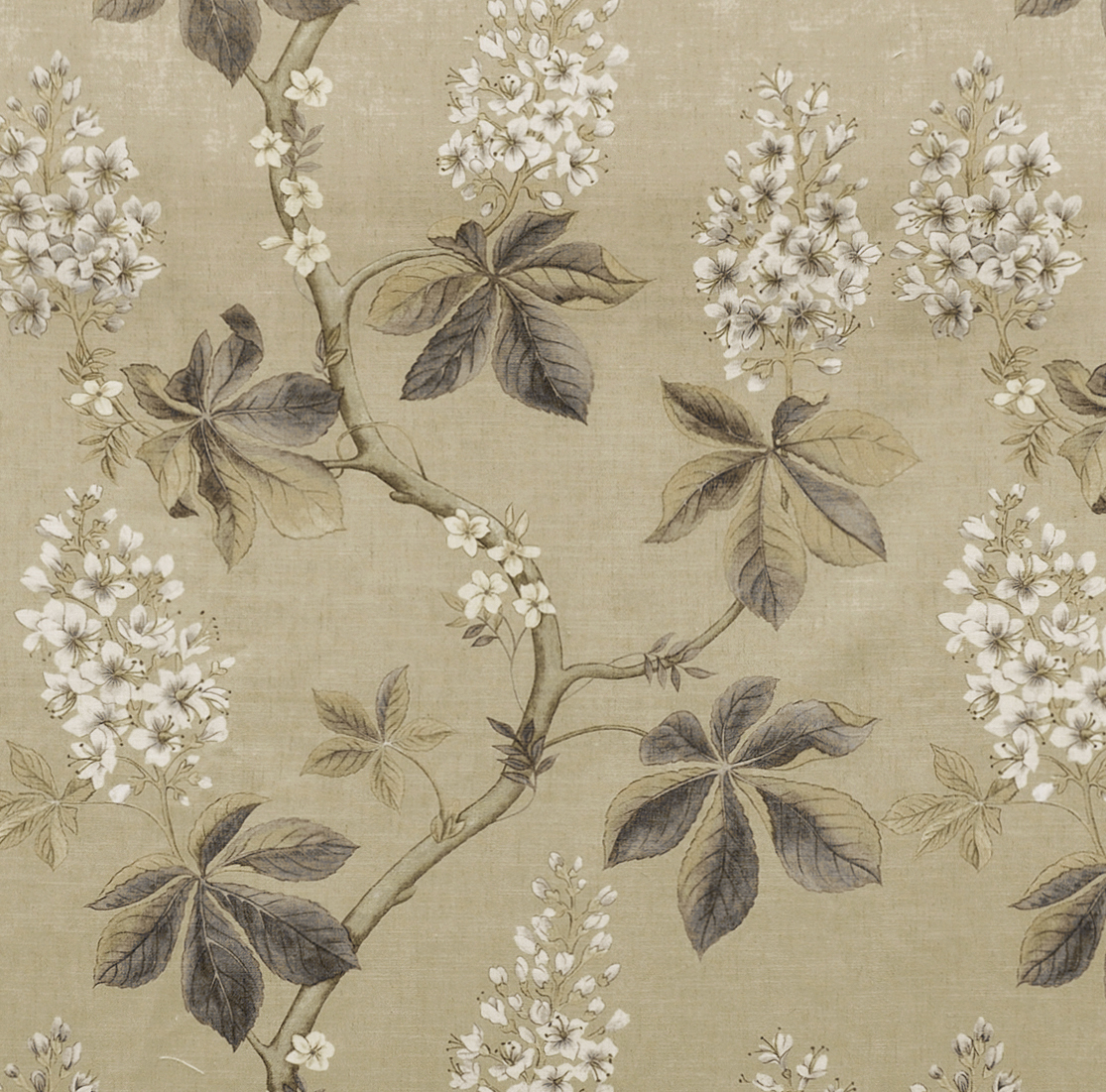 Frey Floral Print Fabric Swatch Polyester Cotton, Refundable For Order Amount Over $399