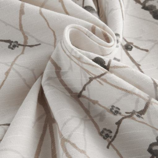 ASTRID Plum Blossom Print Fabric Swatch Polyester Cotton, Refundable For Order Amount Over $399