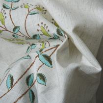 AURORA Flower Print Fabric Swatch Polyester Cotton, Refundable For Order Amount Over $399